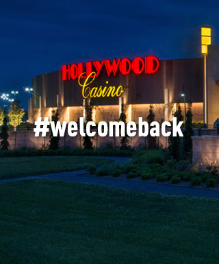 "Hollywood Caisno Kansas Speedway with text ""#welcomeback"""